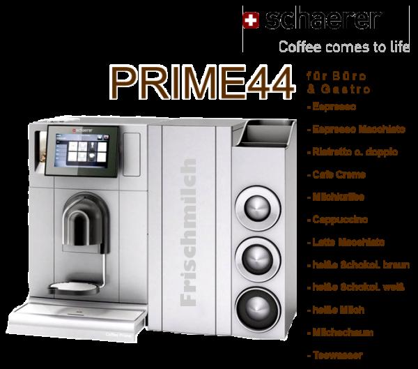 PRIME44 / Schaerer Coffee Prime - nur 44 Cent je Tasse!