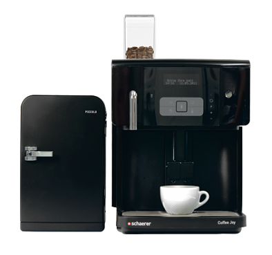 Schaerer Coffee Joy mit Piccolo Milchkühlschrank f. 2x Tetra 1L (optional)