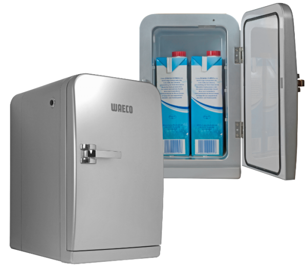 """Mini Kühlschrank """"Waeco"""" silber für 2x Tetra 1L"""