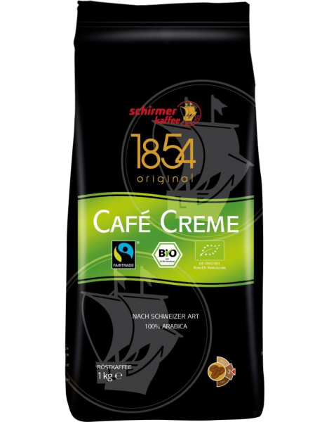 Bio - Fairtrade - Cafe Creme (1kg) ganze Bohnen