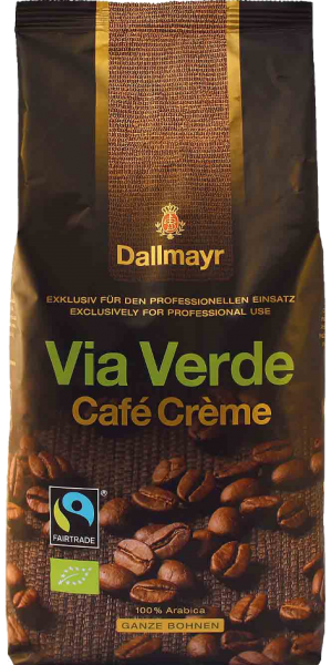 Dallmayr VIA Verde Bio Transfer Cafe Creme
