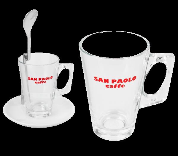 Latteglas mit Griff San Paolo (0,18l)